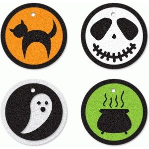 four halloween tags