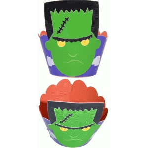 wrapper cupcake frankenstein
