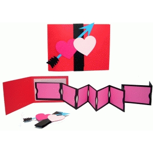 create your own valentines ticket book card