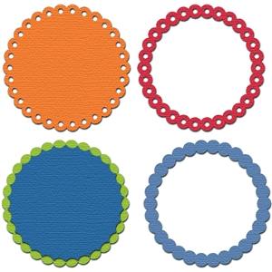 circle dot ring set
