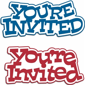 2 phrase set you're invited