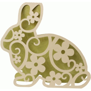 bunny flourish shape card