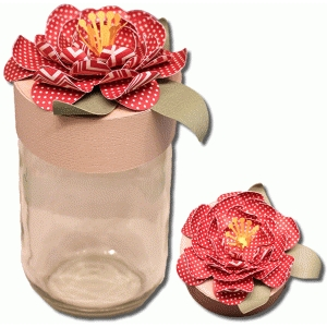 3d mason jar flower lid cover