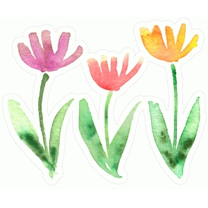 fun watercolor flowers