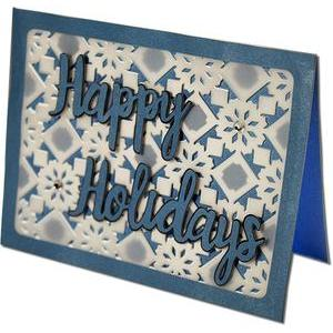 happy holidays layered card