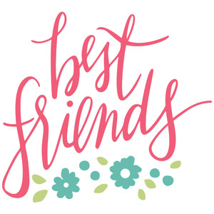 best friends handlettered