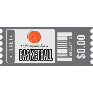 basketball ticket