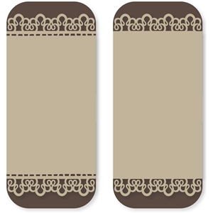 grandma's tablecloth lace card tall