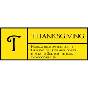 t is for thanksgiving pc