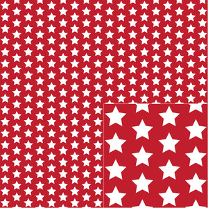 white on red star pattern
