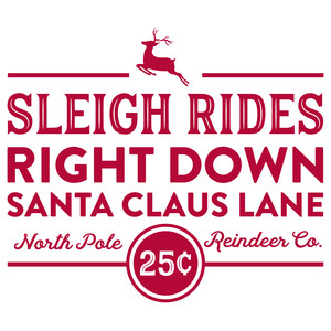 sleigh rides right down santa claus lane