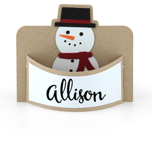 flexi place card snowman