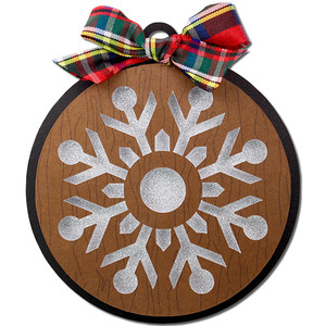 snowflake round gift tag ornament