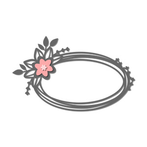 oval flower wreath