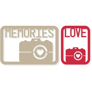 4x6 'camera memories love' life card