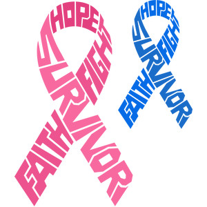 cancer ribbon words