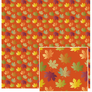 autumn leaves on rust pattern