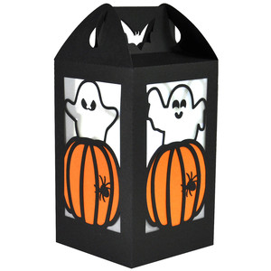 pumpkin ghosties lantern