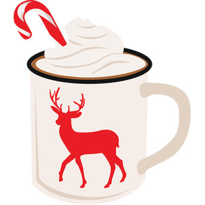 hot cocoa with reindeer