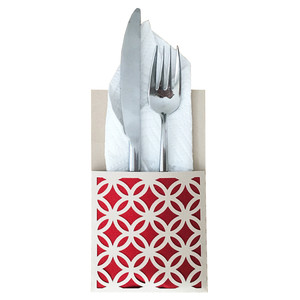 lattice flatware holder