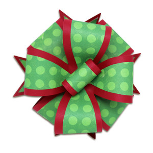 layered quad gift bow