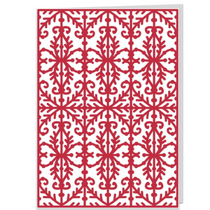 intricate filigree ironwork card