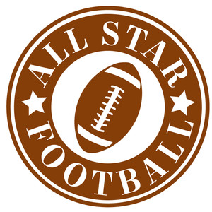 all star football label