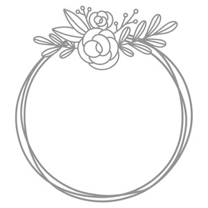 rose top monogram frame