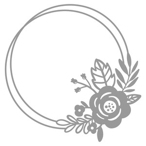 simple floral double circle