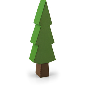 pine tree shaped box