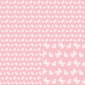 digital paper butterfly pink