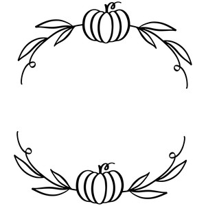 pumpkin wreath with leaves