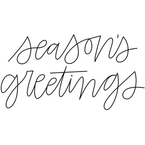 sketch handwritten season's greetings phrase