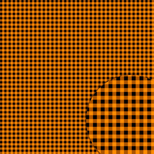 plaid black orange pattern