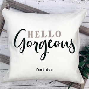 hello gorgeous font duo