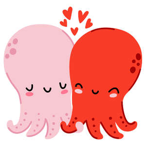 valentine's day octopus