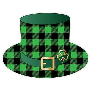 st. patrick's day buffalo plaid hat