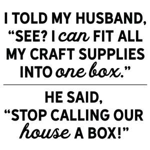 craft supplies box