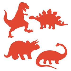 dinosaur shadow puppet set