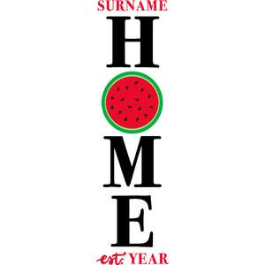 home watermelon porch sign