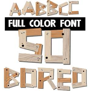 so board color font