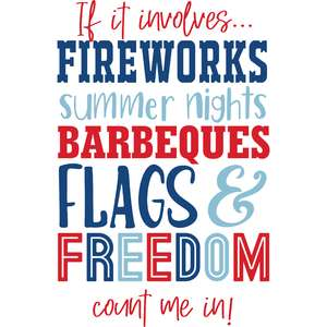 4th of july words