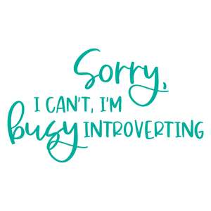 i'm busy introverting