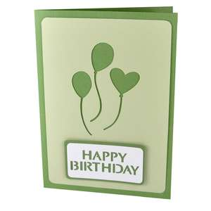 happy birthday balloons stencil card