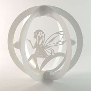 layered pop up sphere fairy