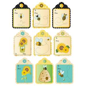 bee-themed gift tags
