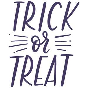 trick or treat handlettered