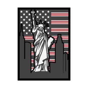 multi layer statue of liberty usa