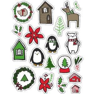 ml christmas leafy wishes stickers