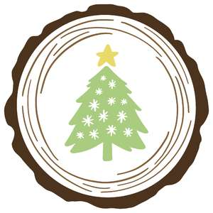 wooden round christmas tree